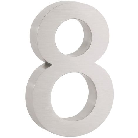 """ZELSIUS stainless steel house number """"8"""""""
