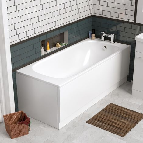 Zensen Bathroom 1700mm Single Ended Bath + Front Bath Panels
