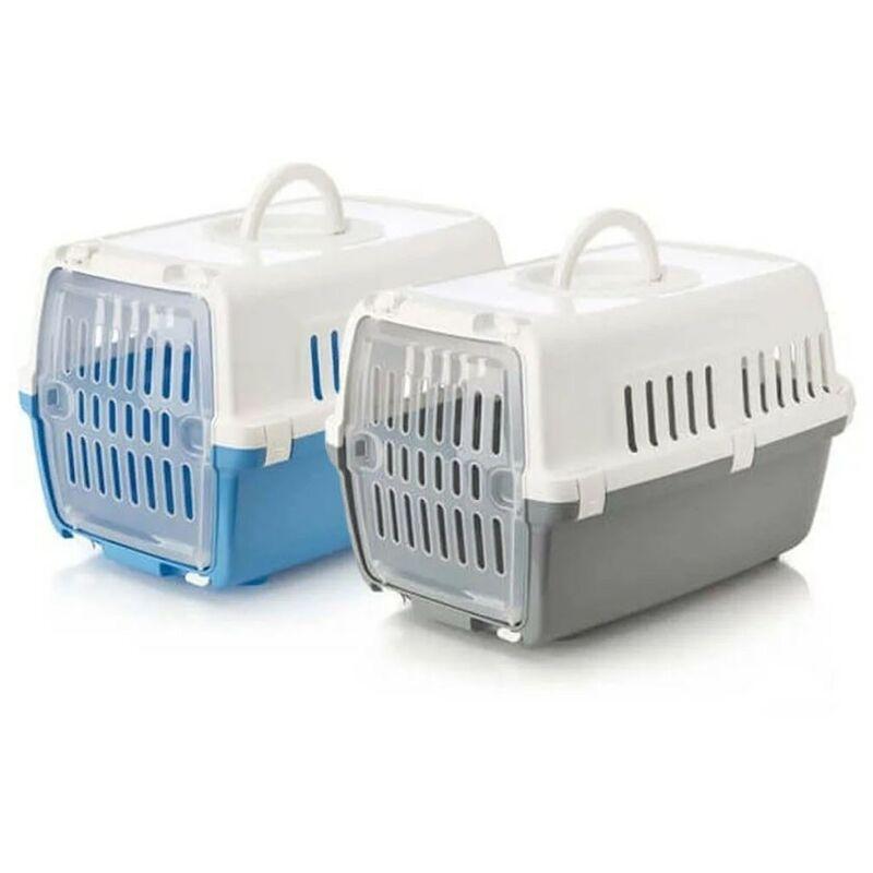 Zephos porteur animal jusqu'a 5 kg | TRANSPORTIN avec porte en plastique | chiens et chats TRANSPORTIN