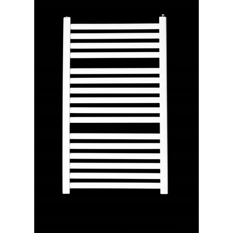 ZEPHYR II | Sèche serviettes vertical eau chaude chauffage central 469 W 91x54 cm | Radiateur salle de bains acier 16 barreaux | Blanc - Blanc