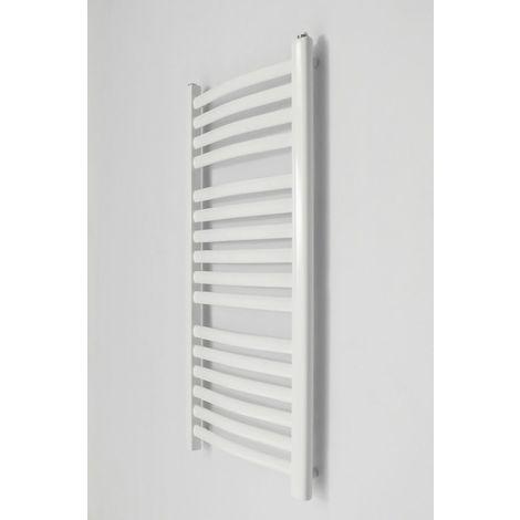 ZEPHYR - Sèche serviettes vertical eau chaude chauffage central 446W 91x44 cm - Radiateur salle de bains acier 16 barreaux - Blanc