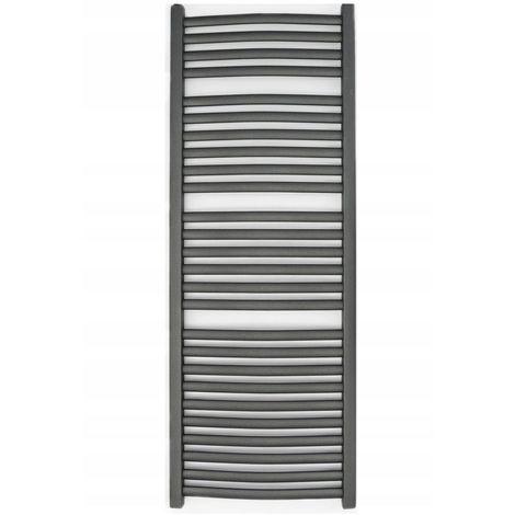 ZEPHYR | Sèche serviettes vertical eau chaude chauffage central 702W 143.5x54 cm | Radiateur salle de bains acier 26 barreaux | Gris - Gris