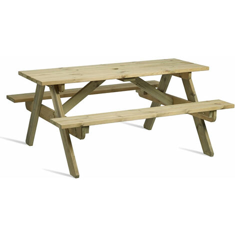 Zepini Picnic Garden Table Outdoor Bench - Seats 8