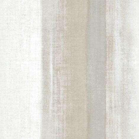 Zero Papel pintado Ombre Stripes blanco