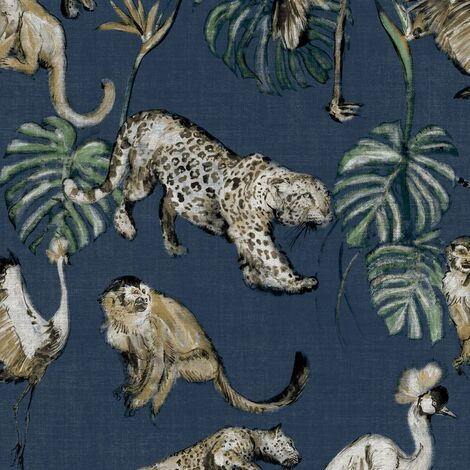 Zero Wallpaper Exotic Animals Blue