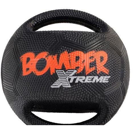 ZEUS Balle Mini Xtreme Bomber en caoutchouc 11.4 cm - Noir et orange - Pour chien