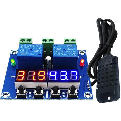 Zfx-M452 Humidite Regulateur De Temperature Module Numerique Thermostat Hygrostat Regulateur Automatique Temperature Constante Et Controleur D'Humidite, Rouge