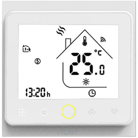 Zigbee Thermostat Intelligent Temperature Programmable Hub Zigbee Requis Vie Intelligente Tuya App Telecommande Compatible Avec Alexa Google Accueil Controle Vocal, Bht-002-Galzbw, Blanc