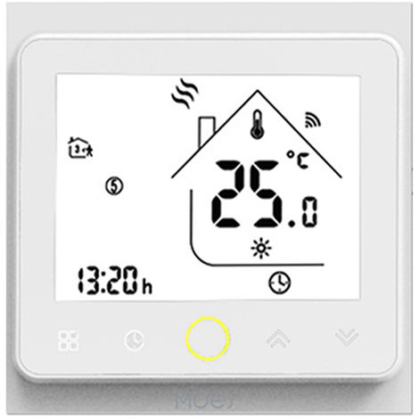 Zigbee Thermostat Intelligent Temperature Programmable Hub Zigbee Requis Vie Intelligente Tuya App Telecommande Compatible Avec Alexa Google Accueil Controle Vocal, Bht-002-Gblzbw, Blanc
