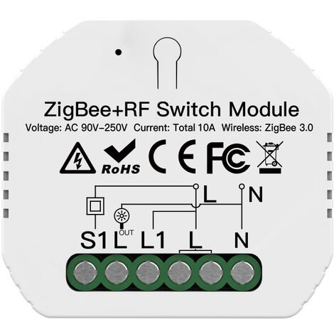 """main image of """"Zigbee3.0 Cacher Disjoncteur Une Maniere Intelligente Module De Commutation App Telecommande Avec Minuterie Fonction Compatible Avec Amazon Alexa Google Assistant"""""""