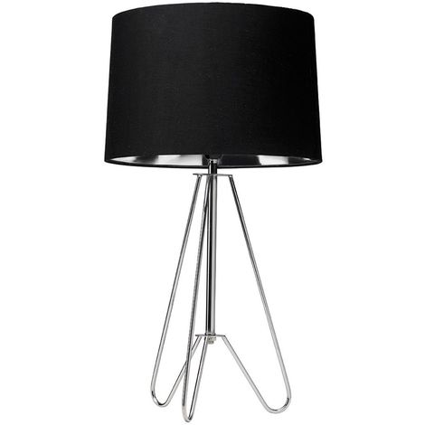 "main image of ""ZIGGY TRIPOD LAMP CHROME / BLACK"""