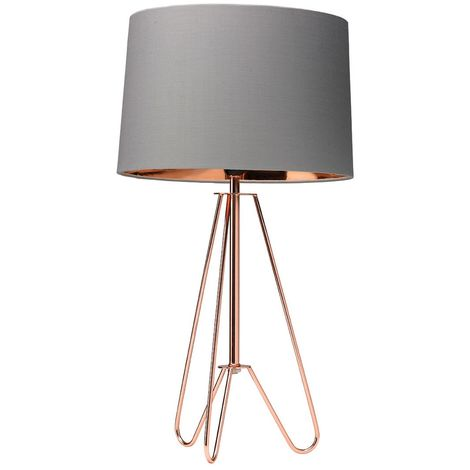 "main image of ""ZIGGY TRIPOD LAMP COPPER / GREY"""