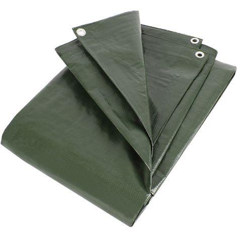 Zill Gewebeplane Abdeckplane PE - Holzabdeckplane verschiedene Größen grün 210g/m² schutzplane Metall-Ösen