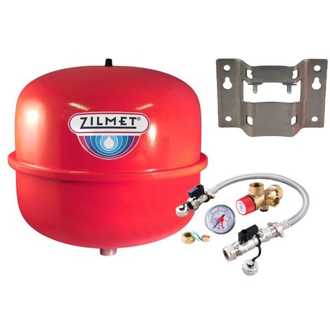 Zilmet - 12 Litre Heating Expansion Vessel & Sealed System Kit Z1-301012