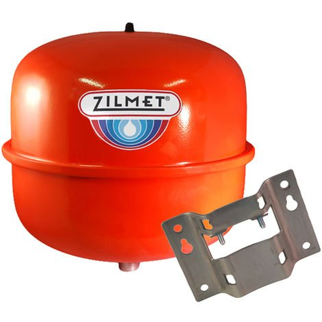 Zilmet - 12 Litre Red Heating Expansion Vessel & Bracket Z1-301012