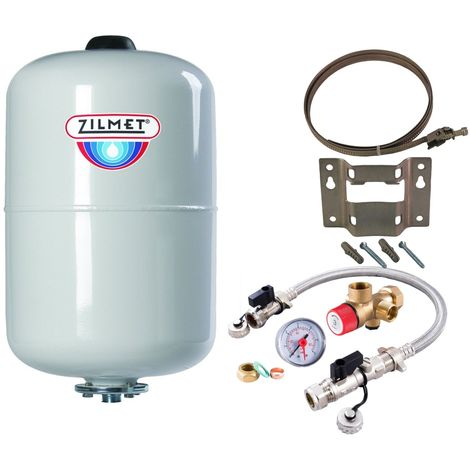 Zilmet - 24 Litre Potable Expansion Vessel & Sealed System Kit 11H0002402