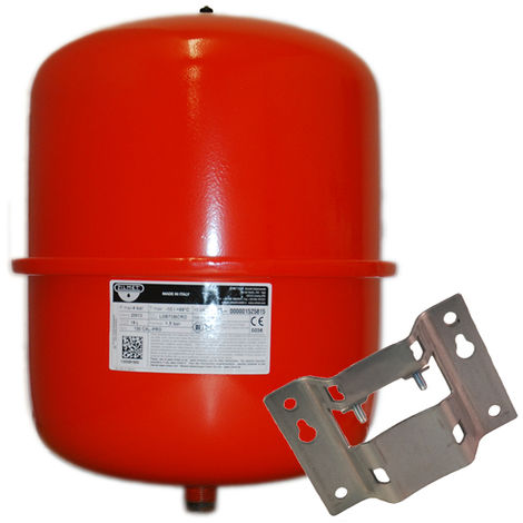 Zilmet - 25 Litre Red Heating Expansion Vessel & Bracket 1300002400B