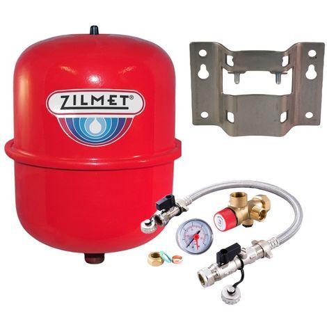 Zilmet - 8 Litre Red Heating Expansion Vessel & Sealed System Kit Z1-301008