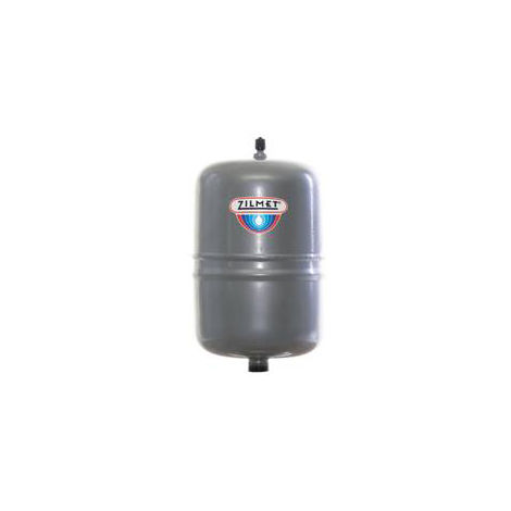 Zilmet Oem Pro Heating Expansion Vessel For Boiler Flat 2 Litres Silver With Diameter 125mm-Height 187mm