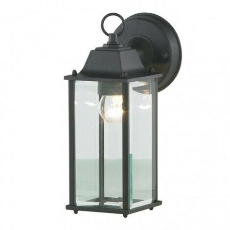 Zinc Ceres Outdoor Wall Lantern, Bevelled Glass
