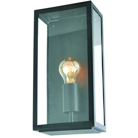 Zinc Minerva Stainless Steel Box Lantern - Black
