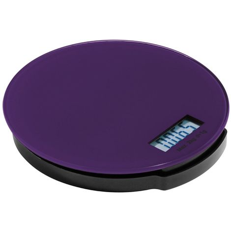 Zing Kitchen Scale,Purple Glass/ABS Base,Electronic 2kg