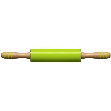 Zing Rolling Pin,Lime Green Silicone,Rubberwood