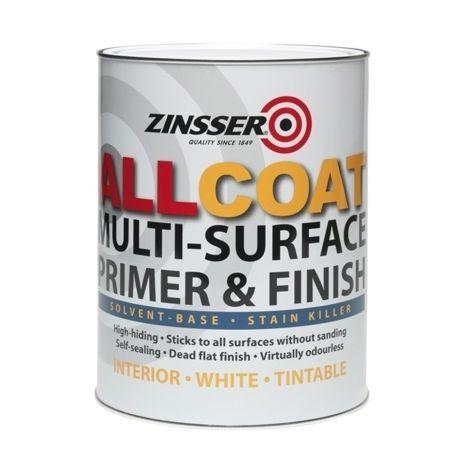 Zinsser All Coat 4-in-1 Primer, Sealer and Stain Blocker - White - 1 Litre
