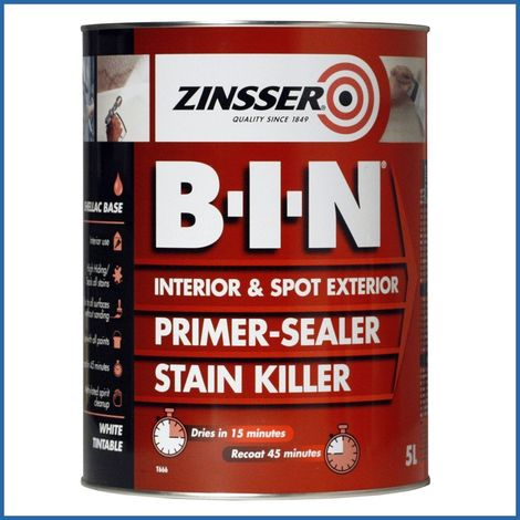 Zinsser BIN Primer Sealer - Stain Killer Paint - 1 LITRE
