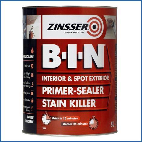 Zinsser BIN Primer Sealer - Stain Killer Paint - All Sizes