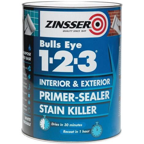 Zinsser Bulls Eye 1-2-3 - Primer-sealer - Stain Killer - All Sizes