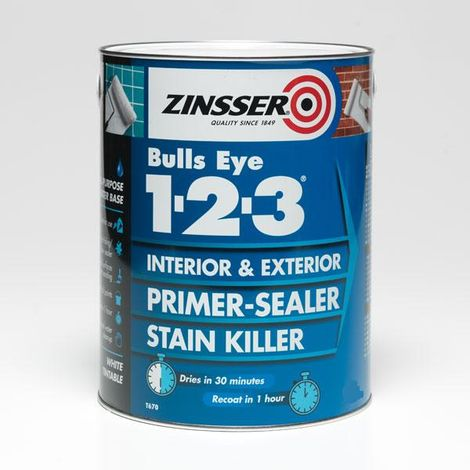 Zinsser Bulls Eye 1-2-3 - Primer-sealer - Stain Killer - All Sizes