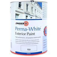 Zinsser Perma White Exterior Paint - Satin - 1L