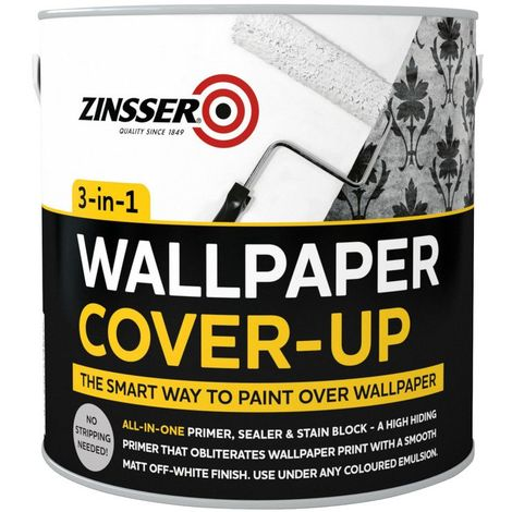 Zinsser Wallpaper Cover Up Paint 2.5L.