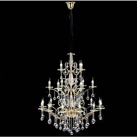 Zinta 3 Tier 22 Pendant Gold / crystal bulbs (Assembly required)