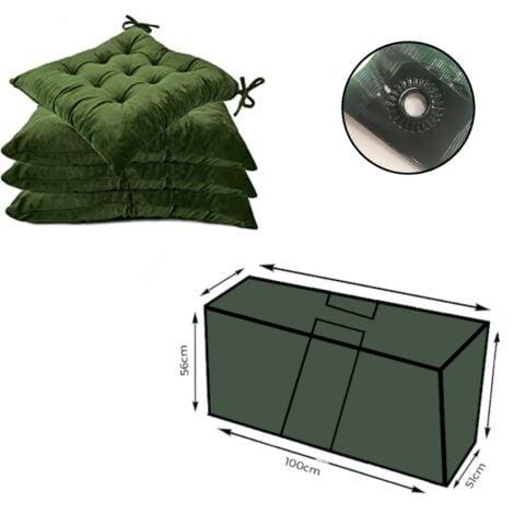 Zipped Waterproof Large Cushion Bag Outdoor Garden Furniture Trunk Storage Case