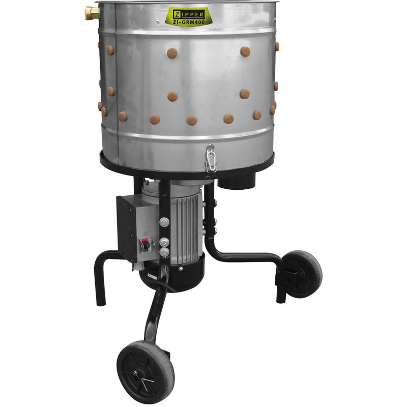 Zipper ZI-GRM400 - Plumeuse rotative à volaille - 550W - 230V - 50Hz