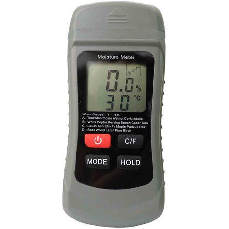 ZN-AZ-SFJ-001 thermometre d'humidite du bois Type 4 arret automatique du bois ¡æ / ¨H commutation gris expedition sans piles