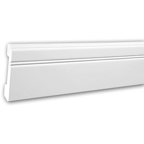 Zócalo 153103 Profhome Perfil de estuco Moldura decorativa estilo Neoclasicismo blanco 2 m