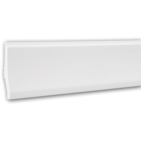 Zócalo 153104F Profhome Perfil de estuco Moldura flexible Moldura decorativa diseño moderno blanco 2 m