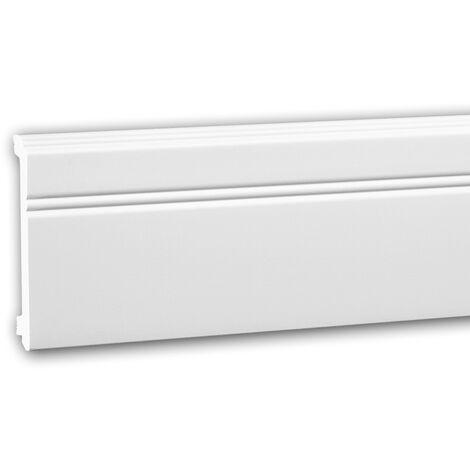 Zócalo 653103 Profhome Perfil de estuco Moldura decorativa estilo Neoclasicismo blanco 2 m