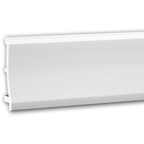 Zócalo 653104 Profhome Perfil de estuco Moldura decorativa diseño moderno blanco 2 m