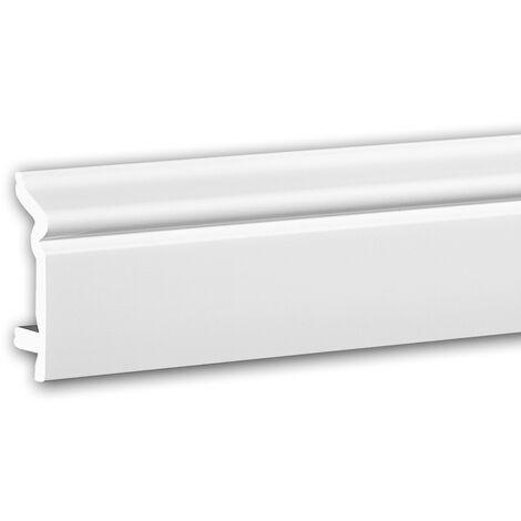 Zócalo 653107 Profhome Perfil de estuco Moldura decorativa diseño atemporal clásico blanco 2 m