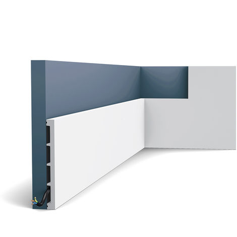 Zócalo Orac Decor SX168 AXXENT SQUARE Zócalo Multifuncional Elemento decorativo para pared diseño atemporal clásico blanco 2 m