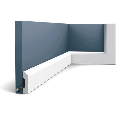 Zócalo Orac Decor SX182 AXXENT CASCADE Zócalo Multifuncional Elemento decorativo para pared diseño atemporal clásico blanco 2 m