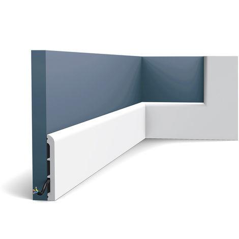 Zócalo Orac Decor SX184 AXXENT CASCADE Zócalo Multifuncional Elemento decorativo para pared diseño moderno blanco 2 m