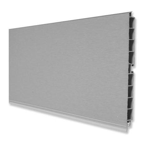 zócalo plasline plástico y aluminio-2,35 mts - varias tallas disponibles