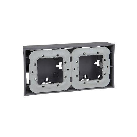 Zocalo Unica Plus 2 elementos Aluminio SCHNEIDER ELECTRIC U87.024.58