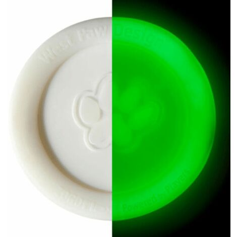 Zogoflex Glow in The Dark Dog Frisbee Zisc Size L White 1938