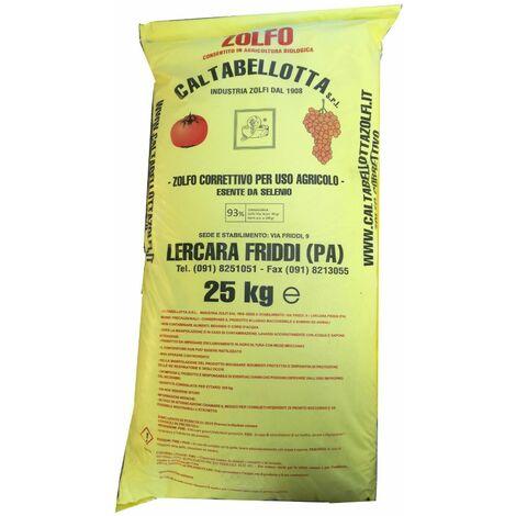 Zolfo correttivo 93 giallo uso agricolo verdura agricoltura biologico kg 25
